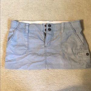 2 for $10!! Gray cargo corduroy mini skirt